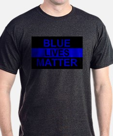 Blue Lives Matter Stripe T-Shirt