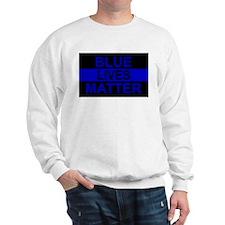 Blue Lives Matter Stripe Sweatshirt