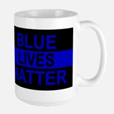 Blue Lives Matter Stripe Mug
