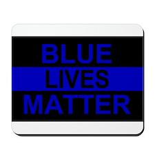 Blue Lives Matter Stripe Mousepad