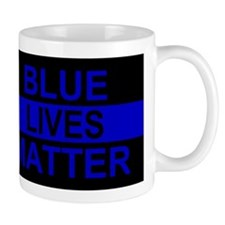 Blue Lives Matter Stripe Mug