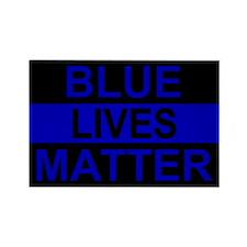 Blue Lives Matter Stripe Rectangle Magnet