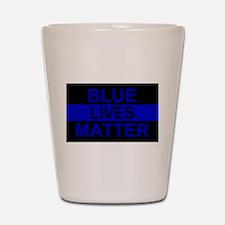 Blue Lives Matter Stripe Shot Glass