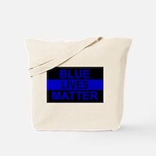 Blue Lives Matter Stripe Tote Bag