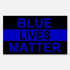 Blue Lives Matter Stripe Bumper Stickers