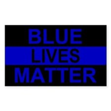Blue Lives Matter Stripe Stickers