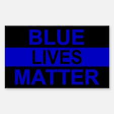 Blue Lives Matter Stripe Stickers
