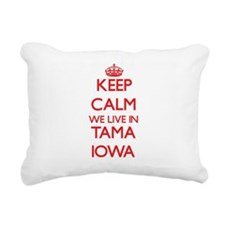 Keep calm we live in Tam Rectangular Canvas Pillow