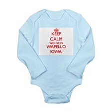 Keep calm we live in Wapello Iowa Body Suit