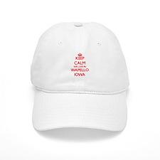 Keep calm we live in Wapello Iowa Baseball Cap
