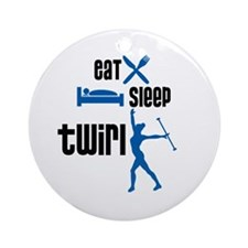 Eat Sleep Twirl (Blue) Ornament (Round)