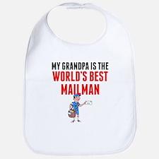 My Grandpa Is The Worlds Best Mailman Bib