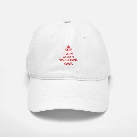 Keep calm we live in Woodbine Iowa Baseball Baseball Cap
