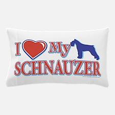 I Heart My Schnauzer Pillow Case