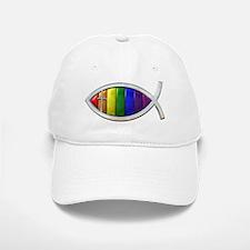 Rainbow Fish Baseball Baseball Cap