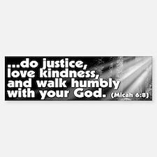 Micah 6:8 Bumper Bumper Bumper Sticker