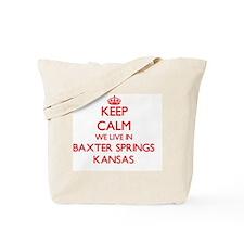 Keep calm we live in Baxter Springs Kansa Tote Bag