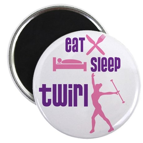 "Eat Sleep Twirl 2.25"" Magnet (100 pack)"