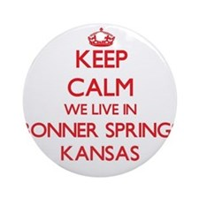 Keep calm we live in Bonner Sprin Ornament (Round)