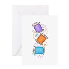 SPOOLS OF THREAD Greeting Cards