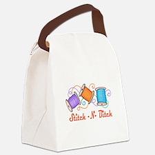 STITCH-N-BITCH Canvas Lunch Bag