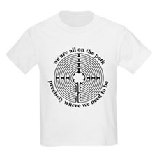 Finger Labyrinth Kids T-Shirt