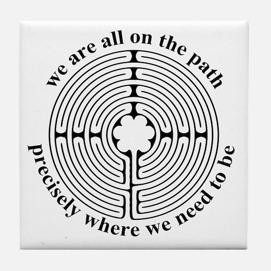 Finger Labyrinth Tile Coaster
