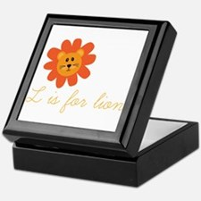 L Is For Lion Keepsake Box