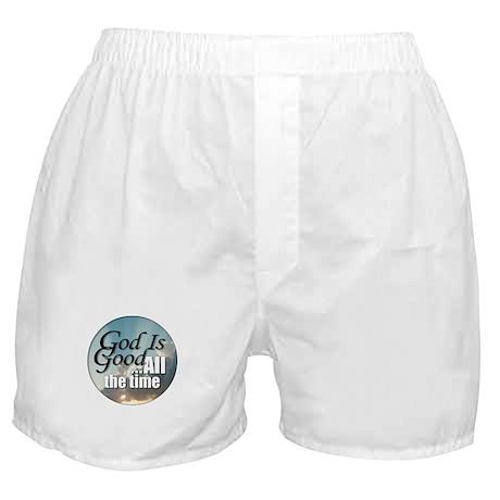 God Is Good Boxer Shorts