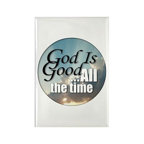 God Is Good Rectangle Magnet (100 pack)