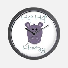 Hip Hip Hooray Wall Clock