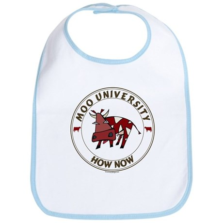 Cow Baby Bib: Moo University