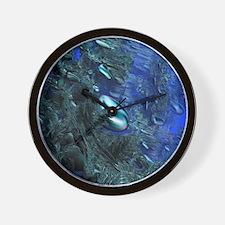 Shiny blue pebbles Wall Clock