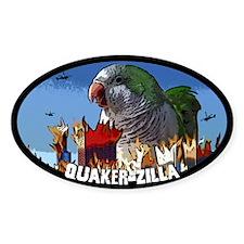 Quaker-Zilla Oval Decal