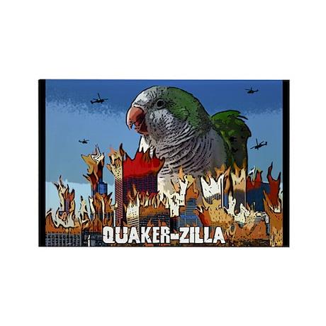 Quaker-Zilla Rectangle Magnet