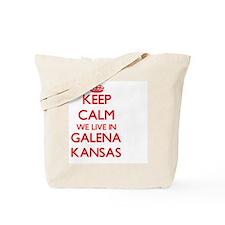 Keep calm we live in Galena Kansas Tote Bag