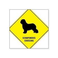 """Cute Schapendoes Square Sticker 3"""" x 3"""""""