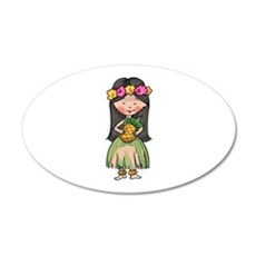 HULA DANCER Wall Decal