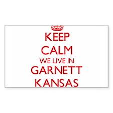 Keep calm we live in Garnett Kansas Decal