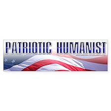 Patriotic Humanist Bumper Bumper Sticker