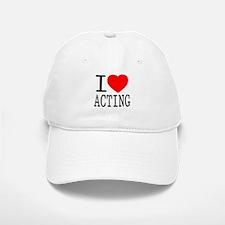 I Love | Heart Acting Baseball Baseball Cap
