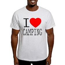 I Love | Heart Camping T-Shirt