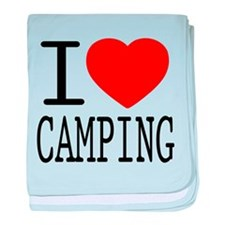 I Love | Heart Camping baby blanket