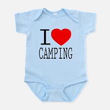 I Love | Heart Camping Infant Bodysuit