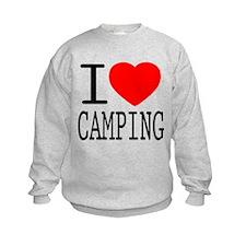 I Love   Heart Camping Sweatshirt