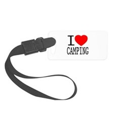 I Love   Heart Camping Luggage Tag
