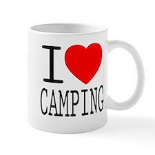 I Love   Heart Camping Mug