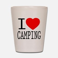 I Love | Heart Camping Shot Glass