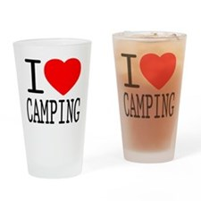 I Love | Heart Camping Drinking Glass