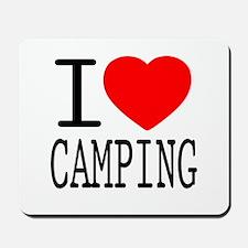 I Love   Heart Camping Mousepad